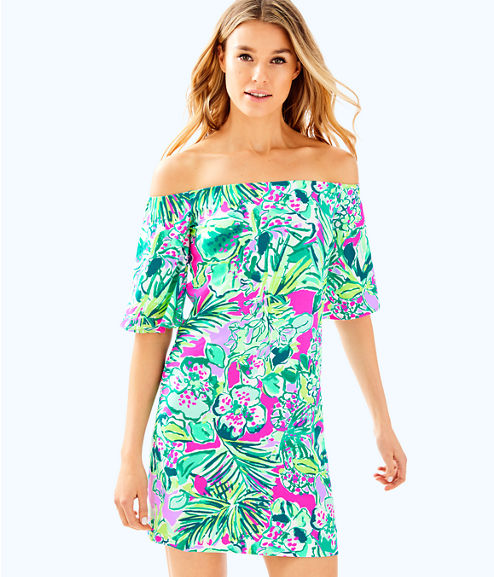 Fawcett Off the Shoulder Dress, Multi Early Bloomer, large