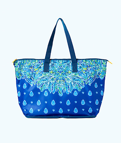 Getaway Packable Tote Bag, Bright Navy Showdown Engineered Tote, large