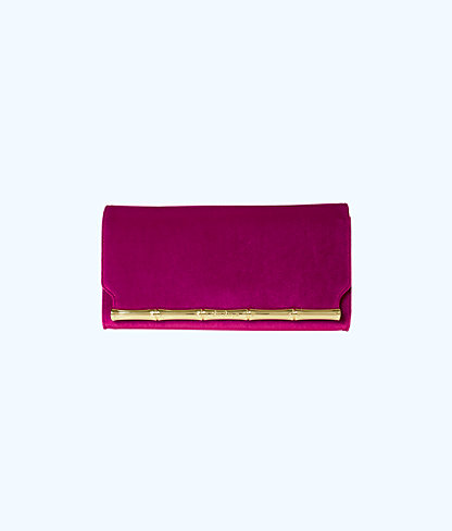 Bamboo Clutch, Blackberry, large