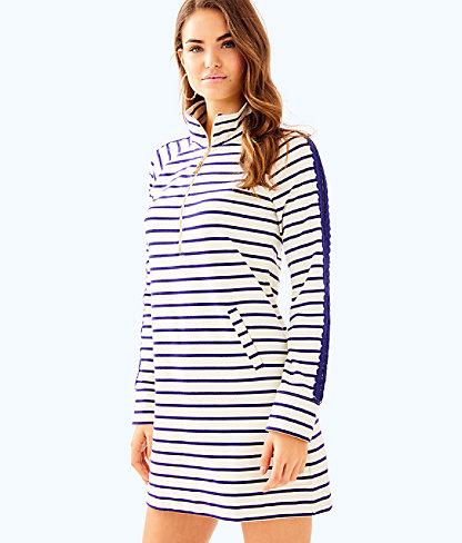 Skipper Dress, Coconut Coastal Shell Stripe, large