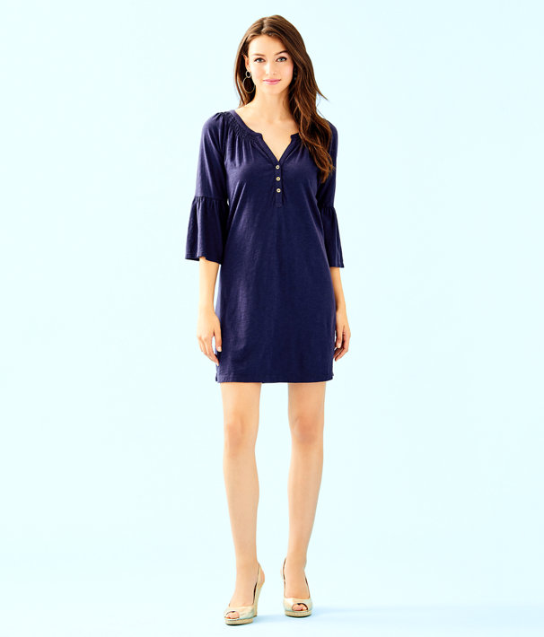 Teigen Dress, True Navy, large
