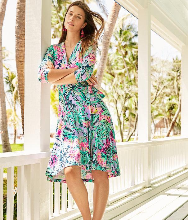 Rozaline Wrap Dress, Multi Slathouse Soiree, large
