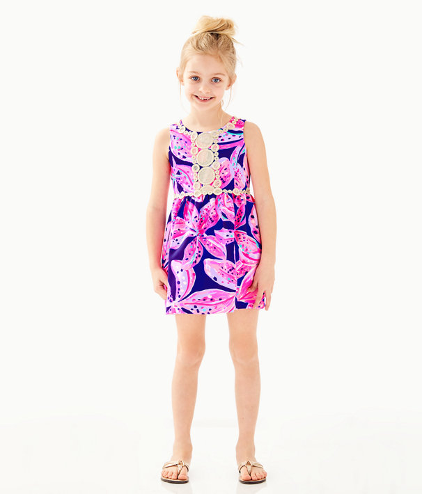 Girls Baylee Dress, Royal Purple Wild Child, large