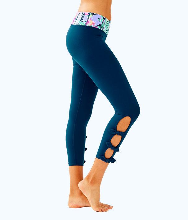 """Luxletic 24"""" Noelani Weekender Midi Legging, Inky Navy, large"""