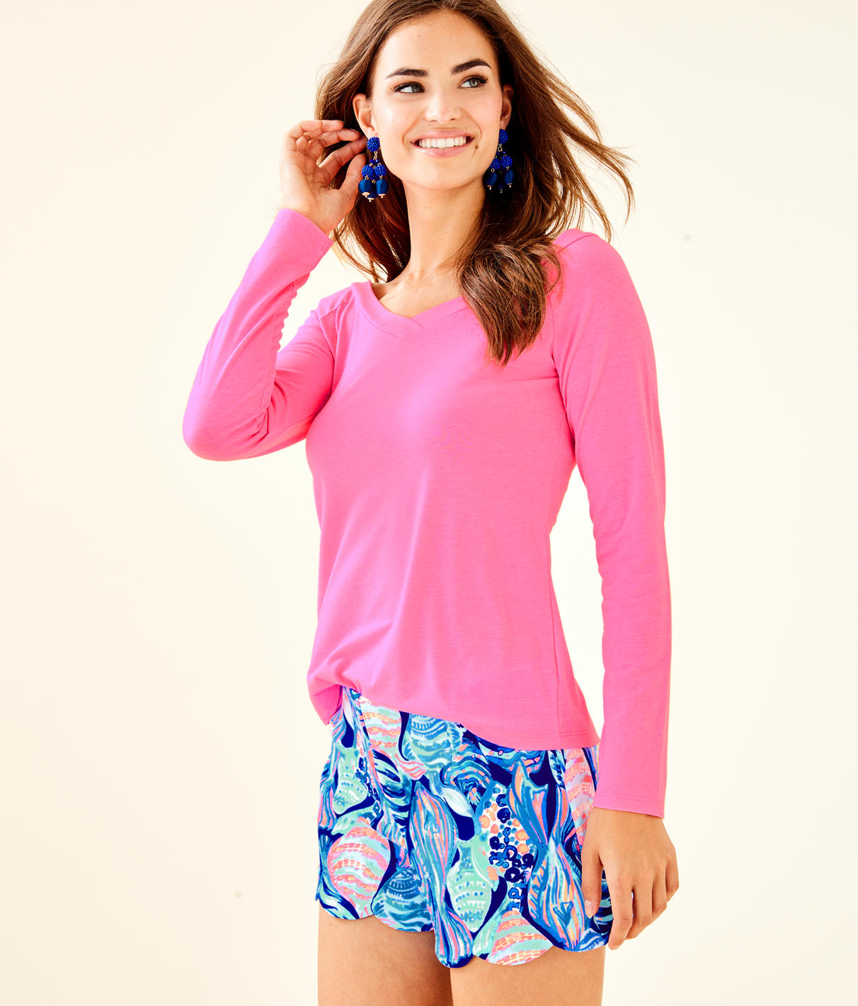 Suzanna Top in Pink Sunset