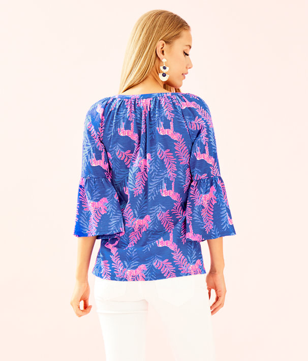 Teigen Top, Royal Purple Dazzle, large