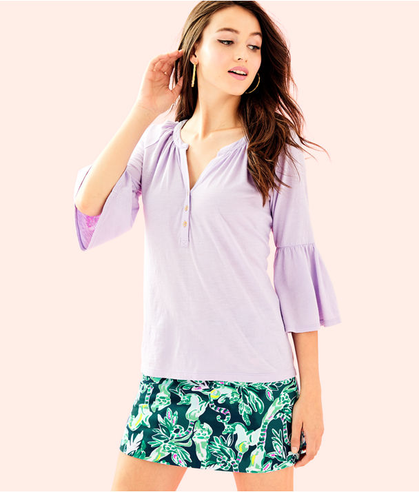 Teigen Top, Light Lilac Verbena, large