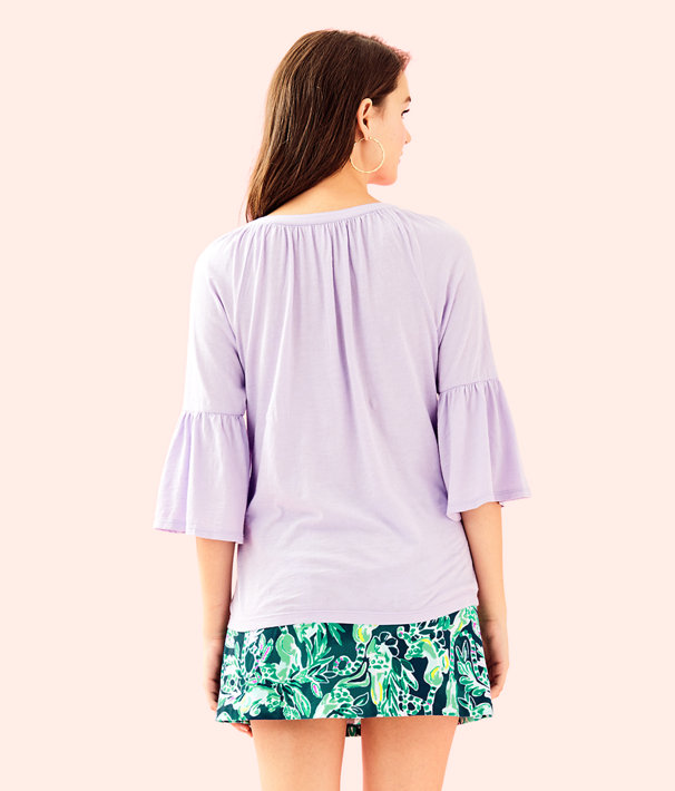 Teigen Top, Light Lilac Verbena, large