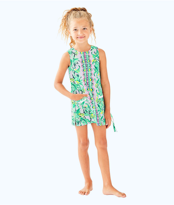 Girls Little Lilly Classic Shift, Light Lilac Verbena Its Impawsible Eng Kids, large