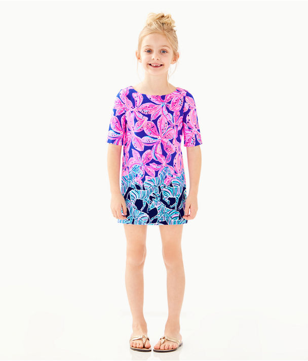 Girls Little Lilah Dress, Royal Purple Wild Child Engineered Little Lilah, large