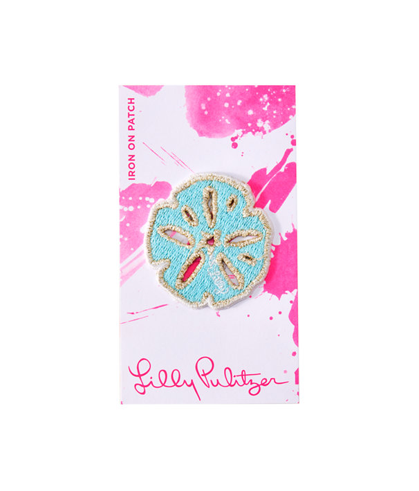 Iron On Sand Dollar Patch, Multi, large