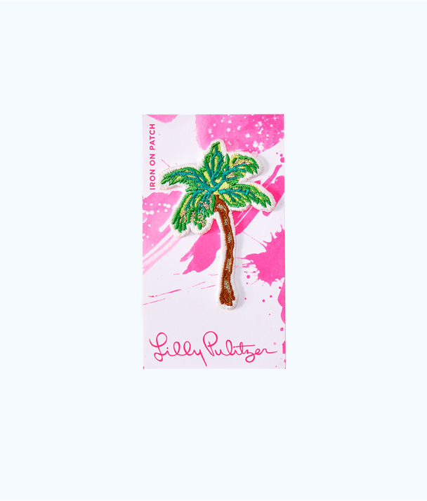 Iron On Palm Tree Patch, Multi, large