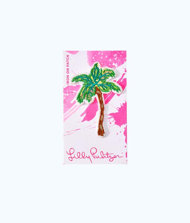 Iron On Palm Tree Patch, Multi, large