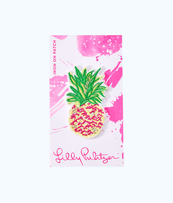 Iron On Pineapple Patch, Multi, large