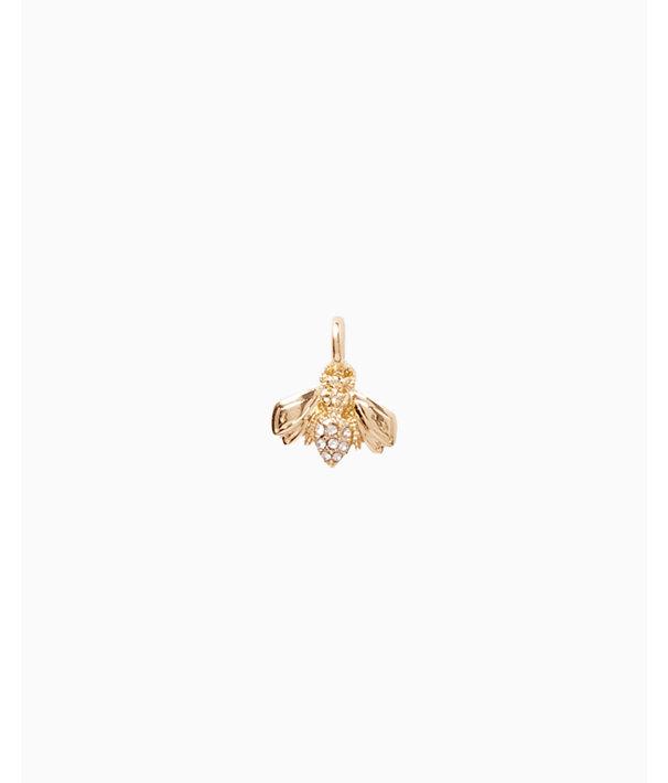 Small Custom Charm, Gold Metallic Small Bee Charm, large