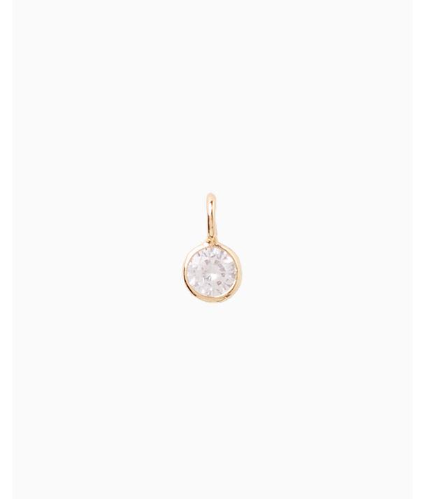 Small Custom Charm, Gold Metallic Small Bezel Charm, large