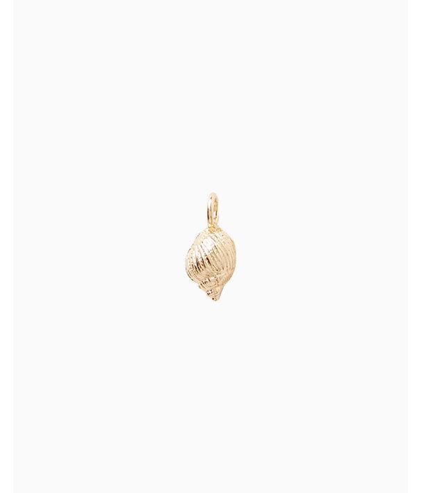 Small Custom Charm, Gold Metallic Small Shell Charm, large