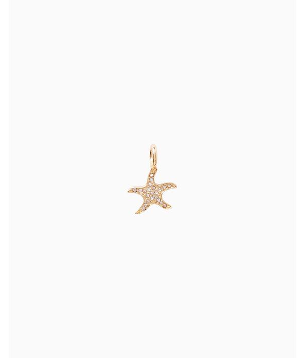 Small Custom Charm, Gold Metallic Small Starfish Charm, large