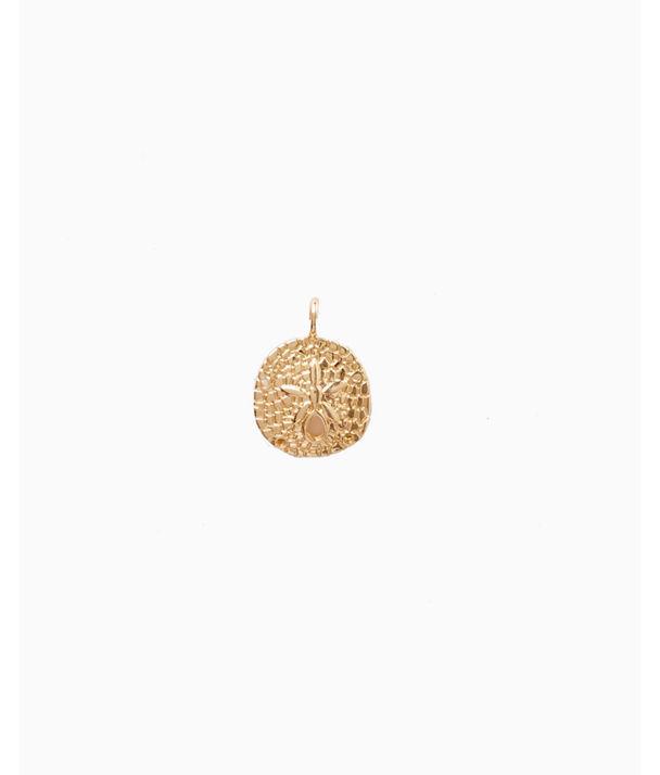 Medium Custom Charm, Gold Metallic Medium Sand Dollar Charm, large