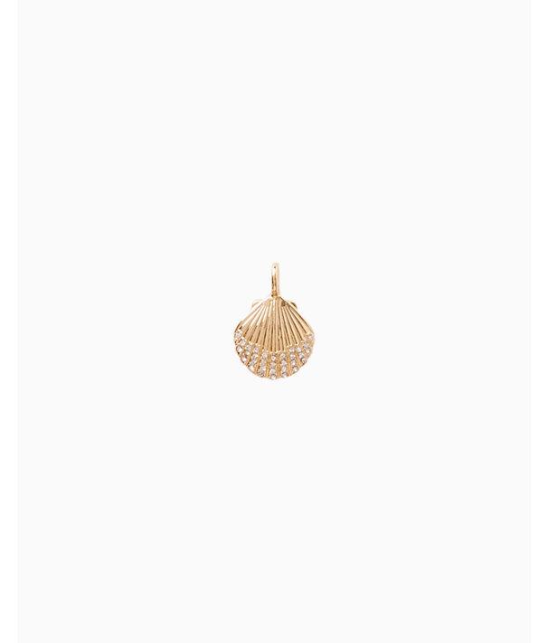 Medium Custom Charm, Gold Metallic Medium Shell Charm, large