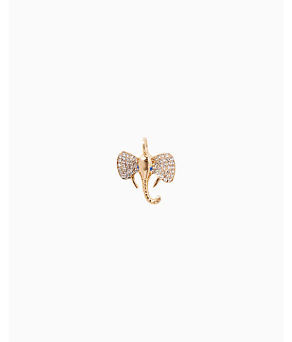 Large Custom Charm, Gold Metallic Large Elephant Charm, large