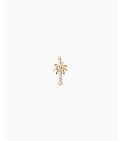 Large Custom Charm, Gold Metallic Large Palm Tree Charm, large