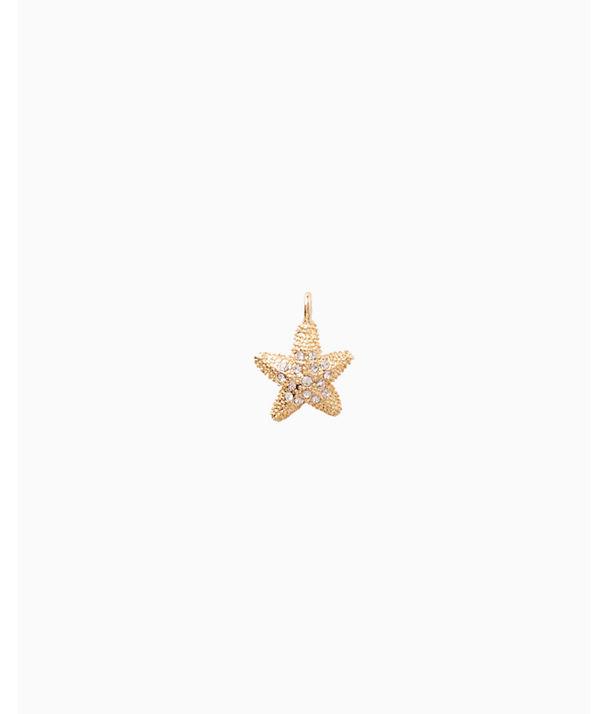 Large Custom Charm, Gold Metallic Large Starfish Charm, large