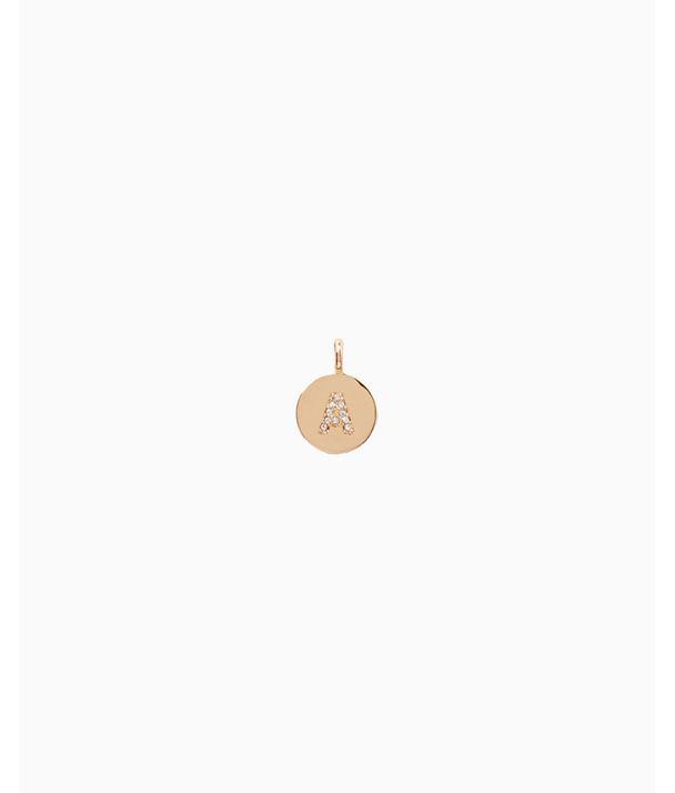 Initial Custom Charm, Gold Metallic A Charm, large