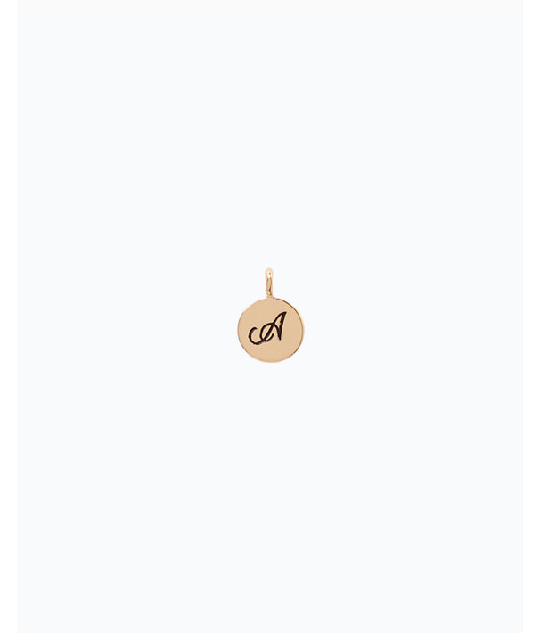 Initial Custom Charm, Gold Metallic A Charm, large
