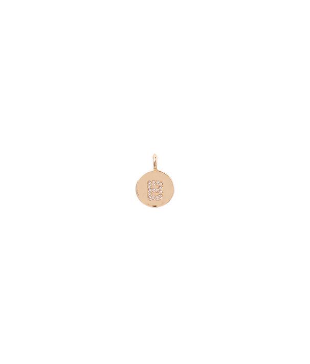 Initial Custom Charm, Gold Metallic B Charm, large