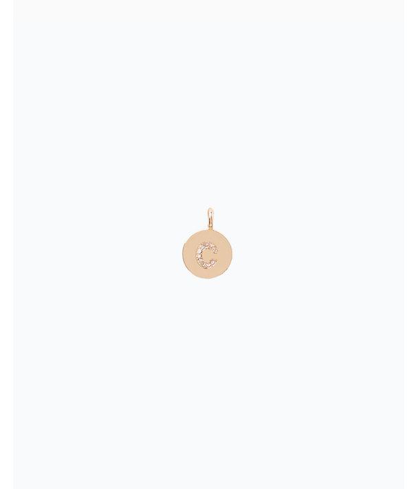Initial Custom Charm - C, Gold Metallic C Charm, large