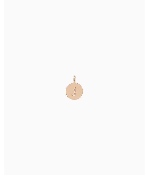 Initial Custom Charm, Gold Metallic J Charm, large