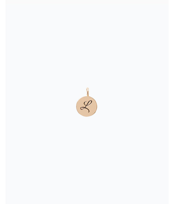 Initial Custom Charm, Gold Metallic L Charm, large