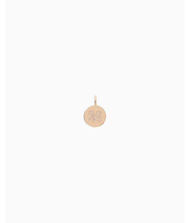Initial Custom Charm, Gold Metallic M Charm, large