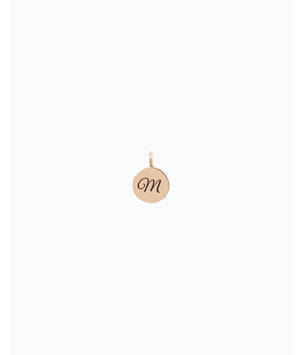 Initial Custom Charm, Gold Metallic M Charm, large