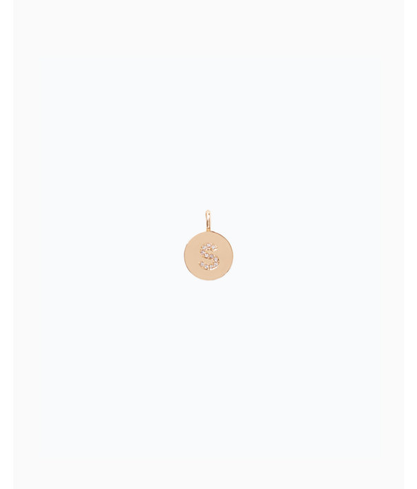 Initial Custom Charm - S, Gold Metallic S Charm, large