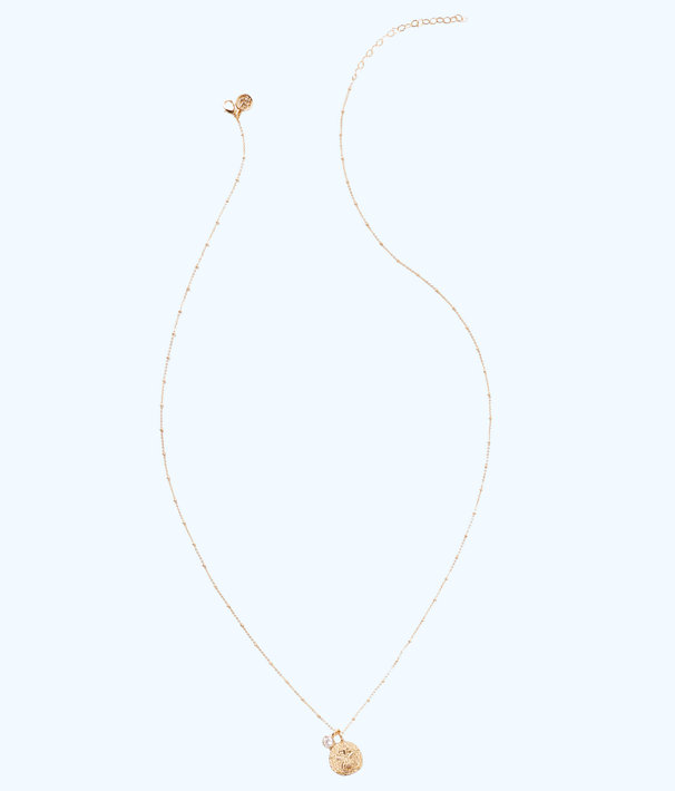 Long Charm Necklace Chain, Gold Metallic, large