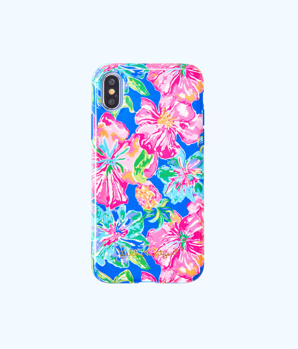 iPhone X Classic Case, Beckon Blue Jungle Utopia Tech, large