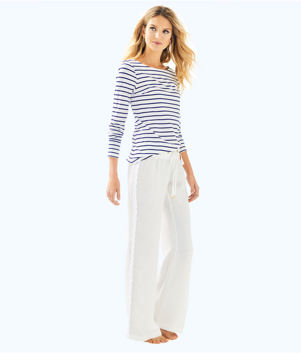 Beach Pant With Lace, Resort White, large