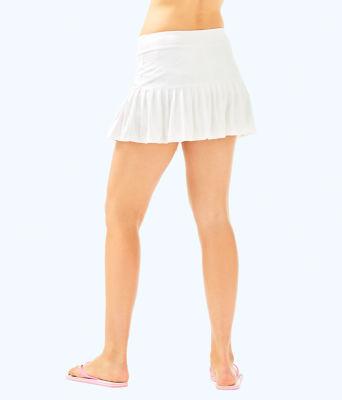 UPF 50+ Luxletic Taye Tennis Skort, Resort White Perfect Match Jacquard, large 1