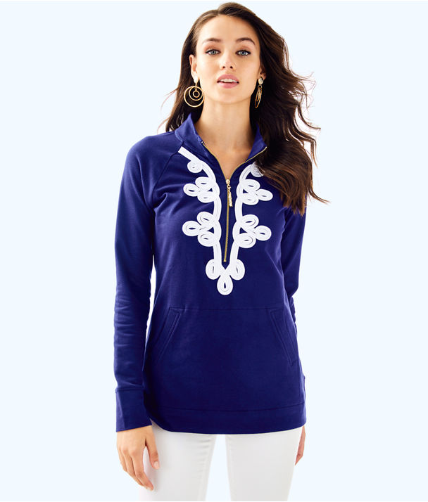 UPF 50+ Skipper Tunic Popover, True Navy, large