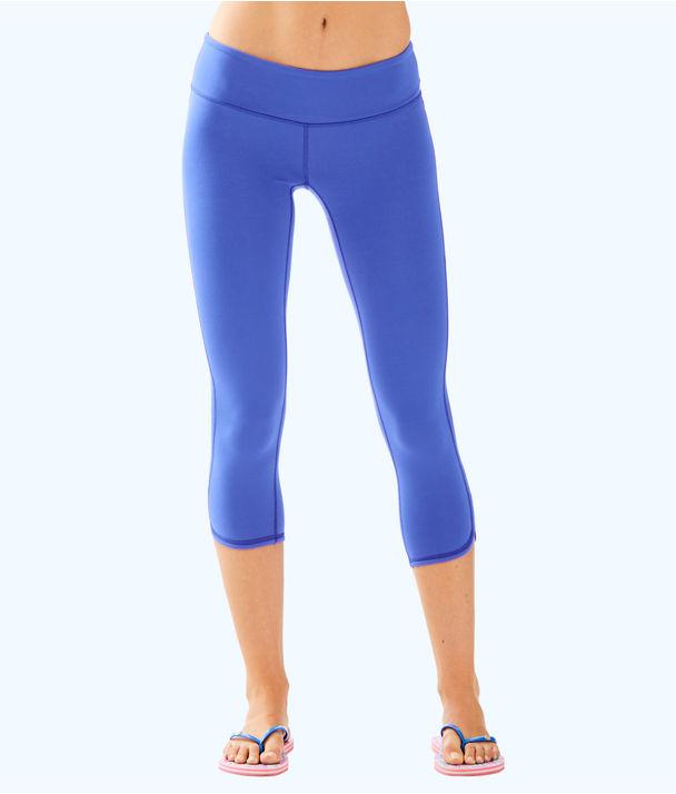 "UPF 50+ Luxletic 21"" Weekender Cropped Legging, Beckon Blue, large"