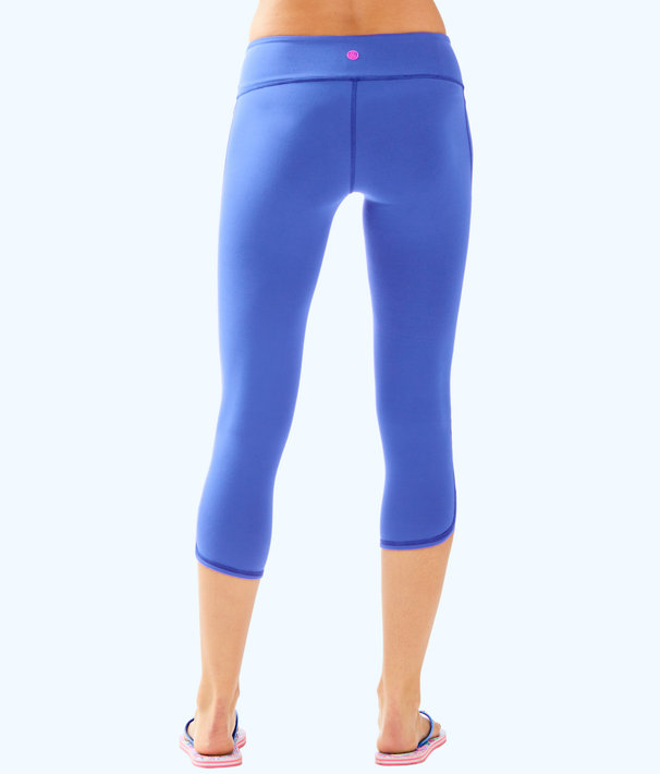 "UPF 50+ Luxletic 21"" Weekender Cropped Legging, Beckon Blue, large"