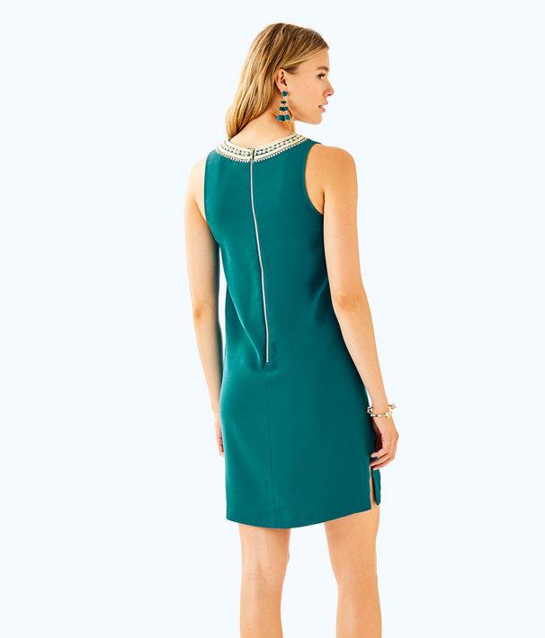 Carlotta Stretch Shift Dress, Tidal Wave, large