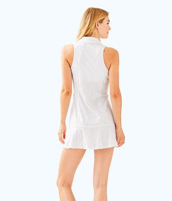 UPF 50+ Luxletic Martina Tennis Dress, Resort White Perfect Match Jacquard, large 1