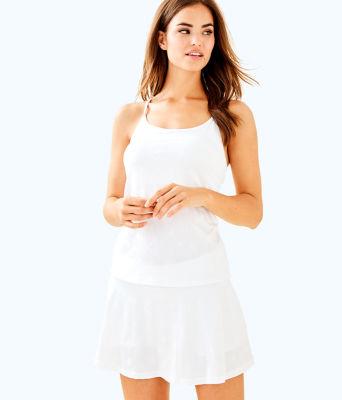 UPF 50+ Luxletic Aila Skort, Resort White Perfect Match Jacquard, large 0