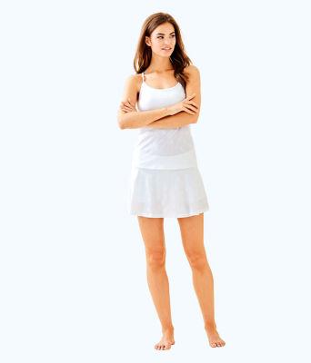 UPF 50+ Luxletic Aila Skort, Resort White Perfect Match Jacquard, large 3