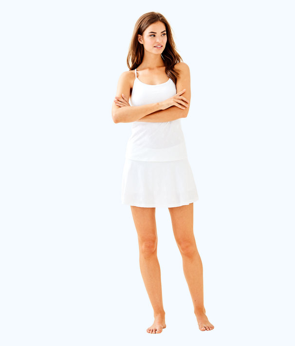 UPF 50+ Luxletic Aila Skort, Resort White Perfect Match Jacquard, large