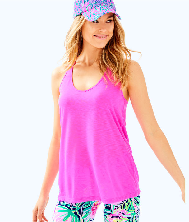 Luxletic Lollo Tank, Mandevilla Pink, large
