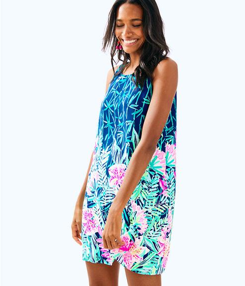 Jackie Silk Shift Dress, Multi Slathouse Soiree Engineered Dress, large